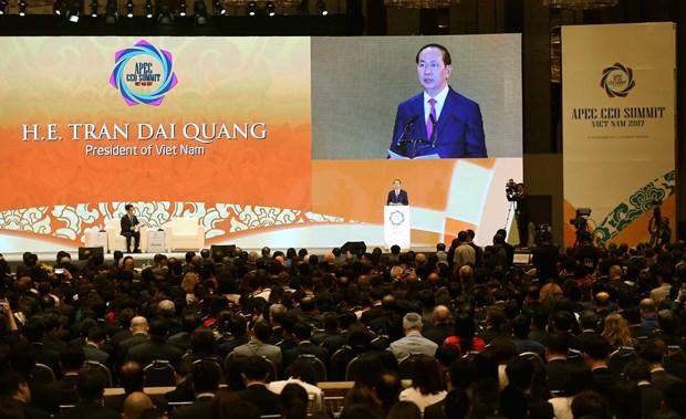 陈大光出席2017年APEC工商领导人峰会并致辞 hinh anh 1