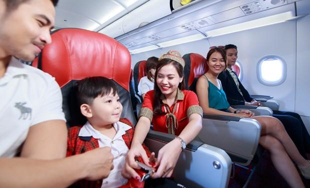 越捷航空推出多条国际航线的50万张特价机票 迎接最佳旅游季节 hinh anh 1