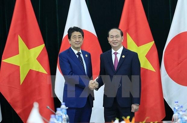 越南国家主席陈大光会见日本首相安倍晋三 hinh anh 2