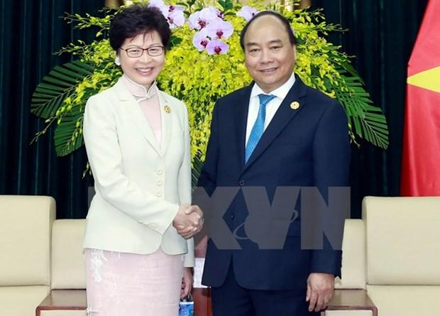 阮春福总理会见中国香港特别行政区行政长官林郑月娥 hinh anh 1