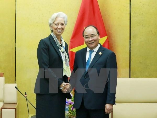 越南政府总理阮春福会见国际货币基金组织总裁克里斯蒂娜·拉加德 hinh anh 1