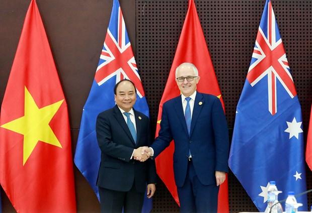 越南政府总理阮春福会见澳大利亚总理和新西兰总理 hinh anh 1