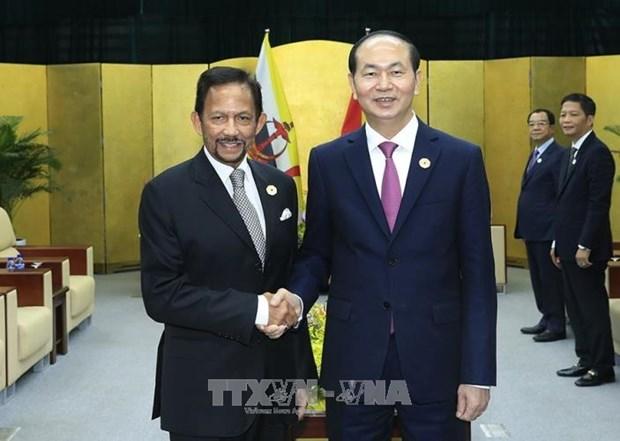 陈大光与澳大利亚总理和文莱国王举行双边会晤 hinh anh 2