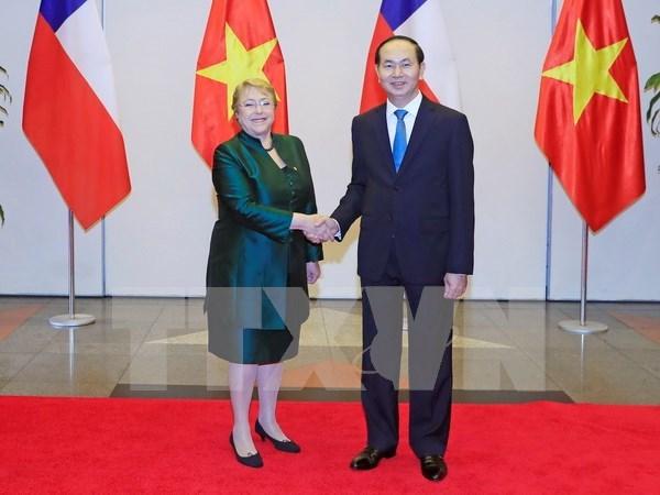 越南与智利发表联合声明 hinh anh 1