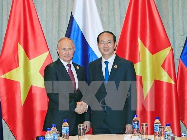 越南国家主席陈大光会见俄罗斯总统普京 hinh anh 1