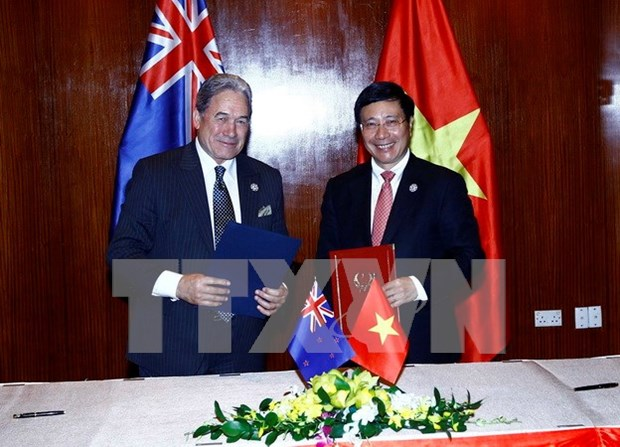 2017年APEC会议:范平明会见新西兰和巴新两国外长 hinh anh 1