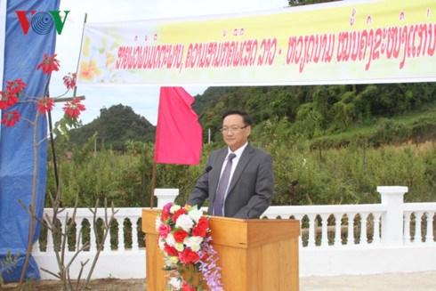 越老建交55周年:越老战斗联盟团结纪念碑正式竣工 hinh anh 2