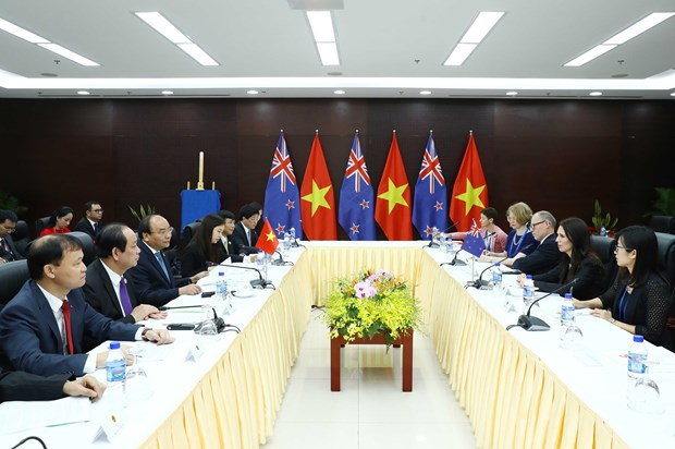 越南政府总理阮春福会见澳大利亚总理和新西兰总理 hinh anh 2