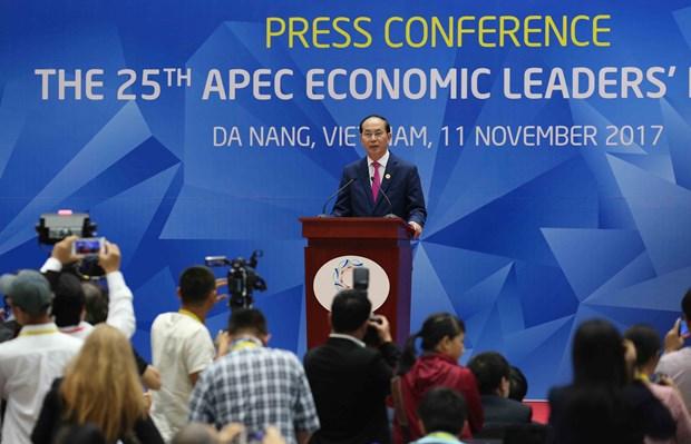 APEC 第25次领导人会议新闻发布会举行 hinh anh 1
