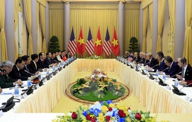 越南国家主席陈大光与美国总统特朗普举行会谈 hinh anh 3