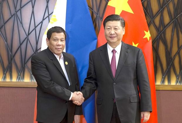 2017年APEC 会议:菲律宾总统分别与中美俄三国元首进行会晤 hinh anh 1