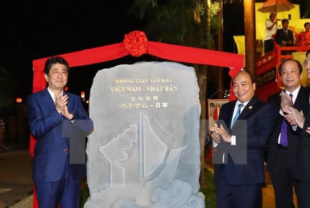 越南政府总理阮春福与日本首相安倍晋三举行会谈 hinh anh 3