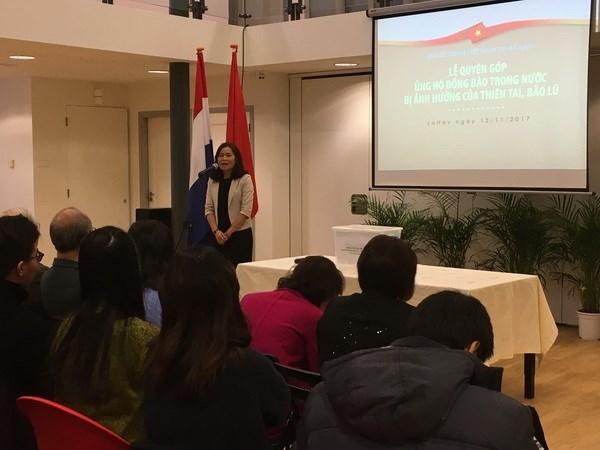 旅居荷兰越南人社群为国内灾民捐款 hinh anh 1