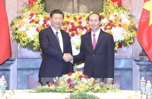 越南国家主席陈大光与中共中央总书记、国家主席习近平举行会谈 hinh anh 1