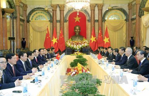 越南国家主席陈大光与中共中央总书记、国家主席习近平举行会谈 hinh anh 2