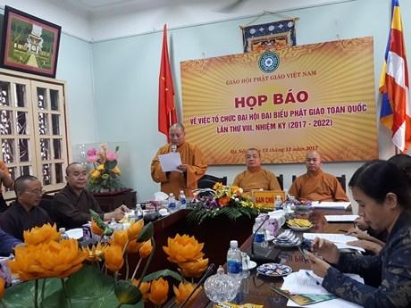 越南佛教协会第8次全国代表大会于本月21日在河内召开 hinh anh 1