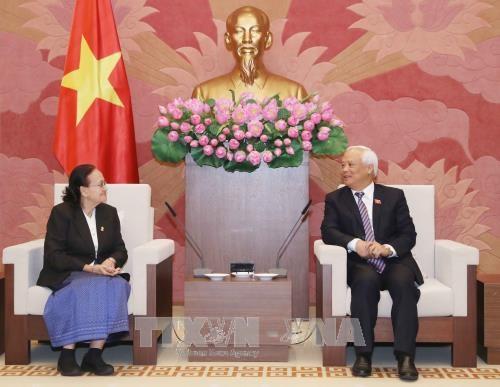 越南国会副主席汪周刘会见柬埔寨外交、国际合作与新闻宣传委员会主任 hinh anh 1
