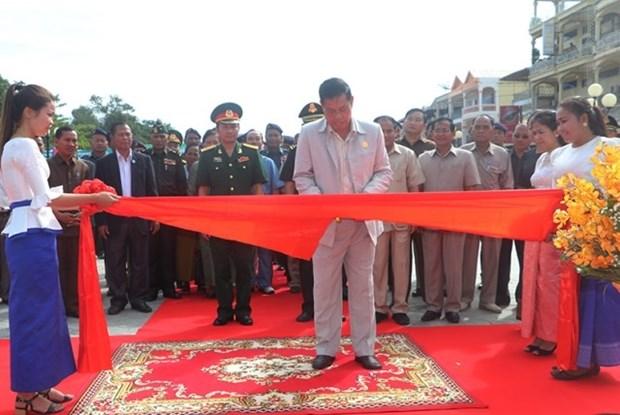 设在柬埔寨上丁省的越柬友谊纪念碑修缮工程竣工 hinh anh 1