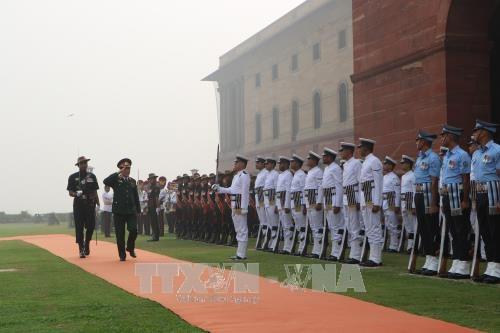 越南人民军高级代表团对印度进行访问 hinh anh 2