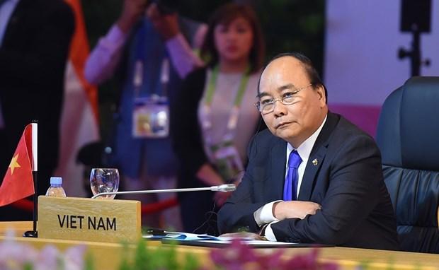 第31届东盟峰会:阮春福出席第15次东盟-印度领导人会议并致辞 hinh anh 1