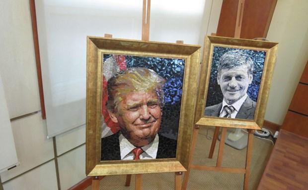 """""""2017年APEC各经济体领导人肖像""""陶瓷拼贴画展即将在河内开展 hinh anh 2"""