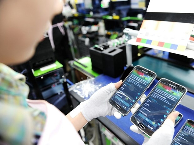 2017年前10个月越南对APEC其它成员经济体的手机出口额达190.1亿美元 hinh anh 1