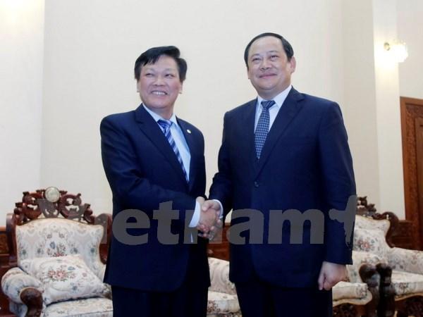 越老建交55周年:老挝领导高度评价两国内务部的合作 hinh anh 1