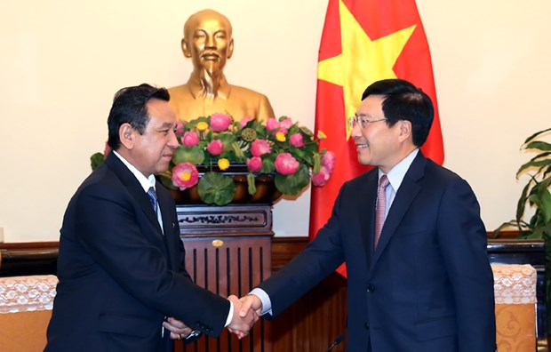 政府副总理范平明会见蒙古驻越大使 hinh anh 1