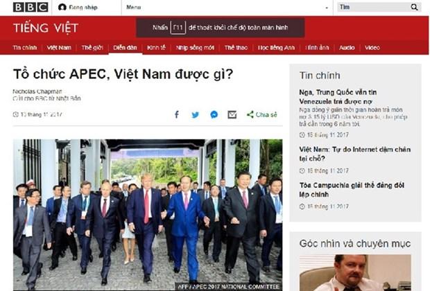 2017年APEC 会议:国际舆论高度评价东道国越南的贡献和引领作用 hinh anh 1