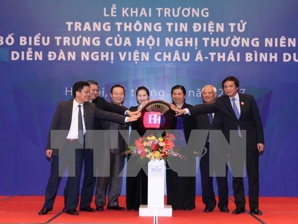 亚太议会论坛第26界年会信息电子网站正式开通 hinh anh 1