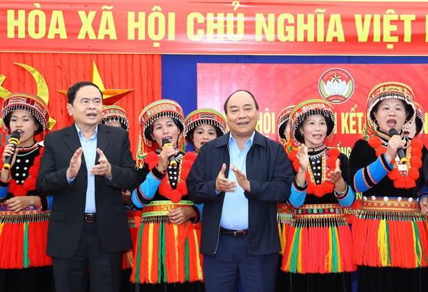 阮春福出席北件市全民族大团结日庆祝活动 hinh anh 1