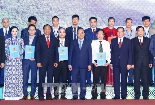 阮春福出席北件省投资促进会 强调对让人民获益的领域投资是该做的事 hinh anh 1