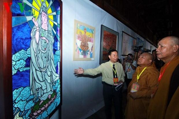 越南当代佛教艺术展和佛事成就展在河内开展 hinh anh 1
