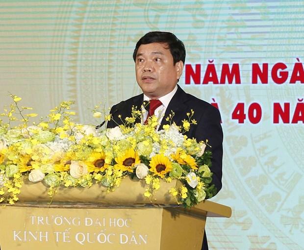 政府副总理武德儋出席国民经济大学的11.20越南教师节35周年纪念典礼 hinh anh 2