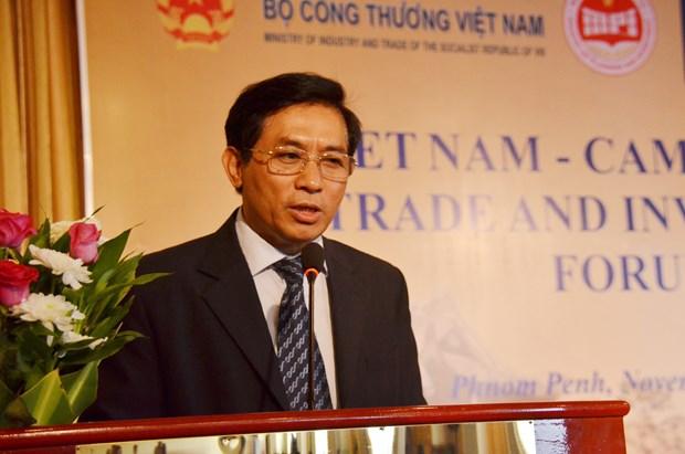 越柬建交50周年:2017年越柬贸易投资论坛在柬埔寨金边举行 hinh anh 1
