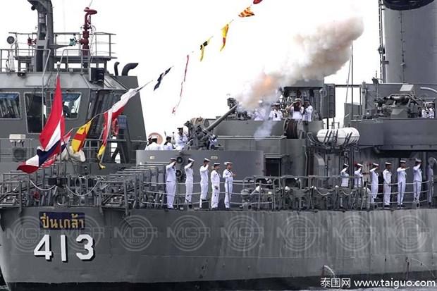 泰国举行东盟成立50周年国际舰队检阅活动 hinh anh 2