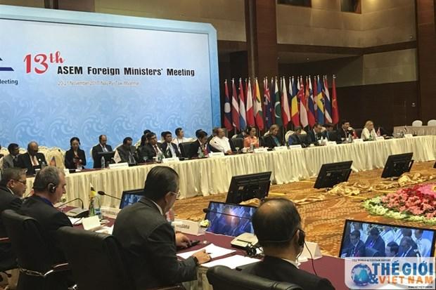 ASEM 各国外长同意加强致力于和平与可持续发展的伙伴关系 hinh anh 1