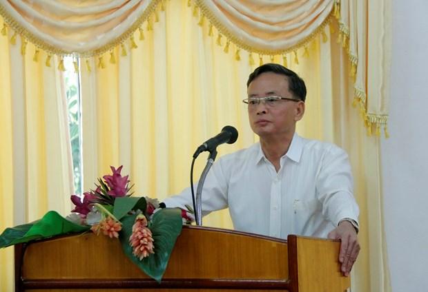 越南为老挝新闻工作者开展公关技巧培训班 hinh anh 2