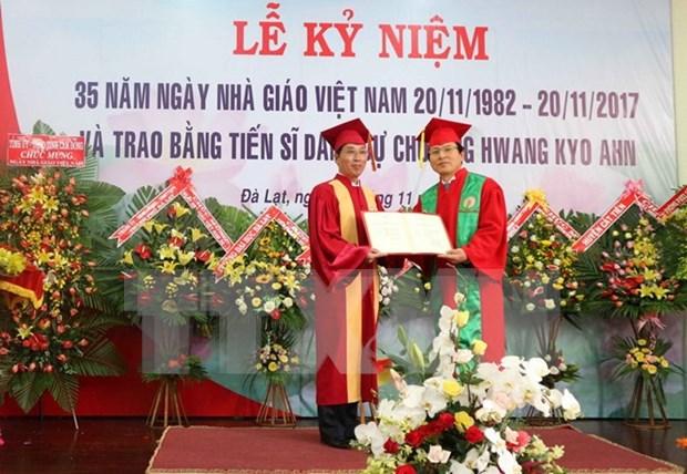 大叻大学向原韩国总理黃教安授予名誉博士学位 hinh anh 1