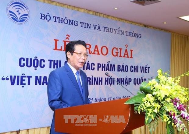 """题为""""越南——融入国际社会进程""""新闻写作比赛结果揭晓 hinh anh 1"""