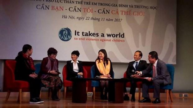 停止对儿童暴力的全球倡议:全社会携手反对对儿童暴力 hinh anh 1