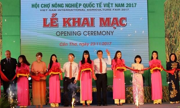 2017年越南国际农业展览会吸引300家单位和企业参展 hinh anh 1