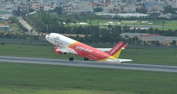 2017年河内市促销月:越捷航空推出70万张零越盾起的国内机票 hinh anh 2