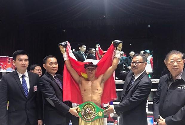 WBC亚洲职业拳击赛:越南武士陈文草夺冠 hinh anh 1