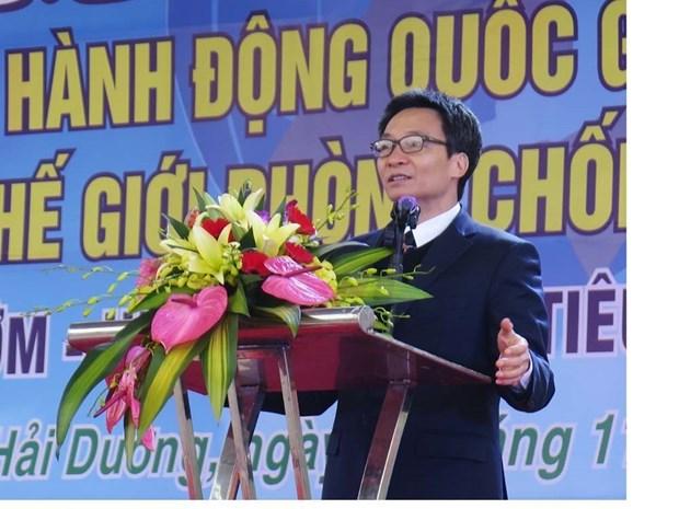越南政府副总理武德儋 让艾滋病患者不再受歧视 hinh anh 1