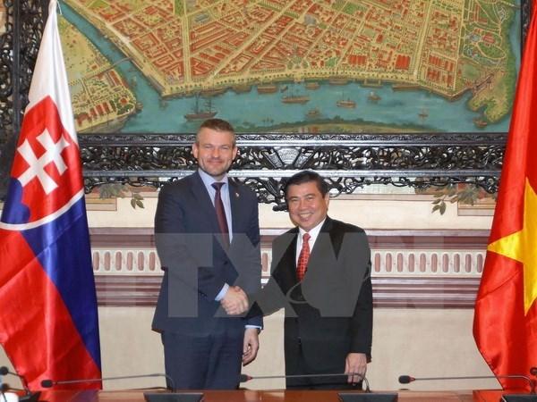 胡志明市与斯洛伐克加大贸易投资合作力度 hinh anh 1