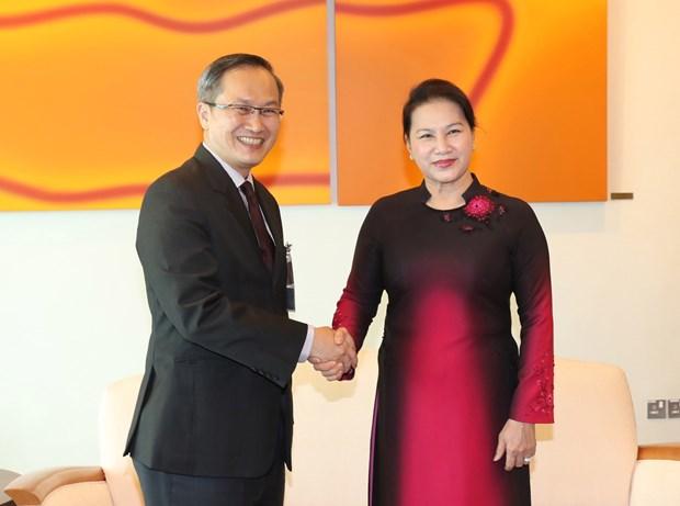 越南国会主席阮氏金银开始对新加坡进行正式访问 hinh anh 1