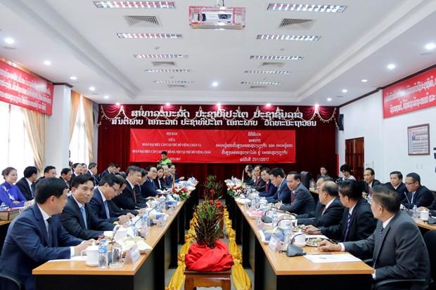 越南河内与老挝万象深化合作 hinh anh 2
