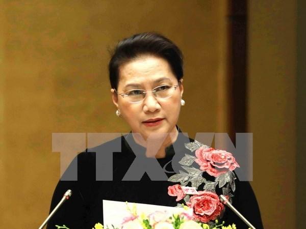 越南国会主席阮氏金银启程对新加坡和澳大利亚两国进行正式访问 hinh anh 1