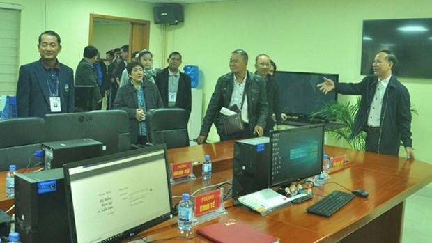 泰国北碧府新闻记者协会代表团访问广宁报社 hinh anh 1